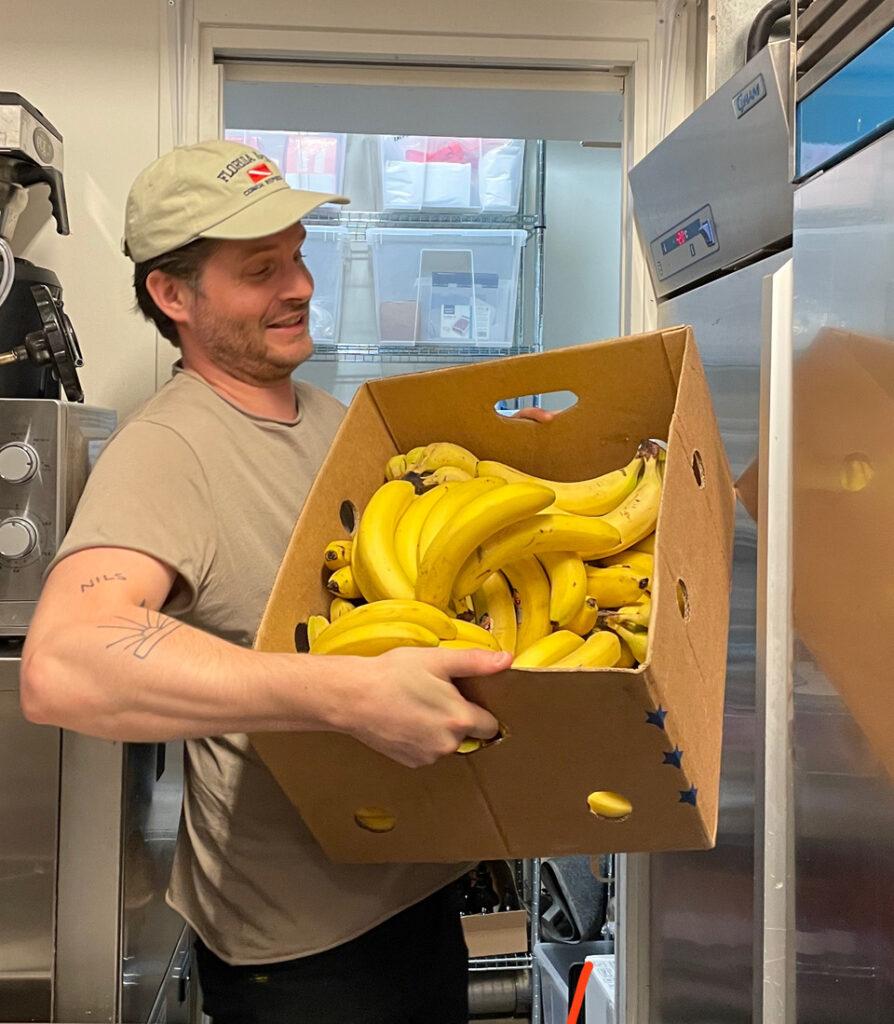Dagens banan leverans.
